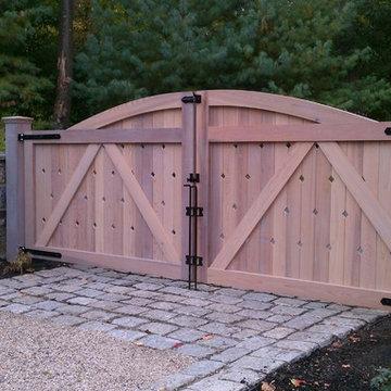 Custom Cedar Driveway Gate
