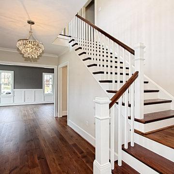 Custom Dark Stained Hickory Flooring