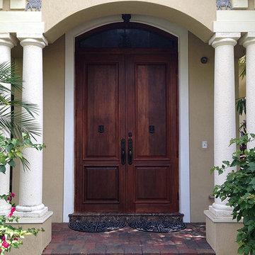 Custom Doors, Luxury home in South Florida