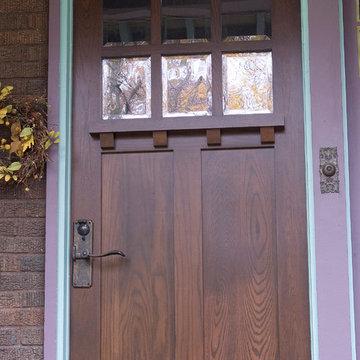 Custom Front Door - White Oak Craftsman Style