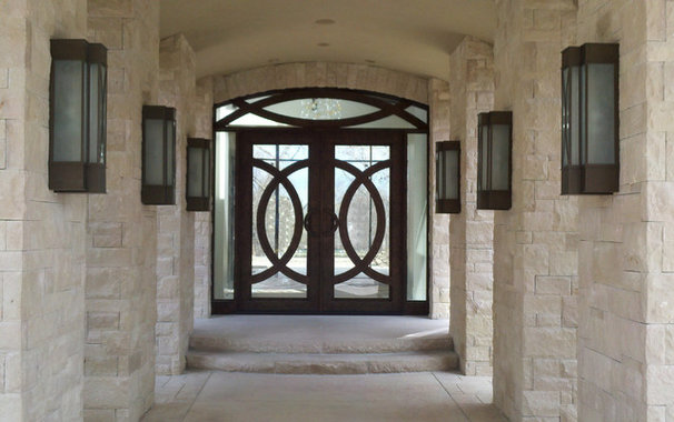 Contemporary Front Doors by Visionmakers Custom Stone & Iron Doors