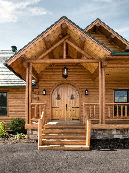 Log Home Entrances Houzz