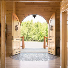 Rustic Entry by Katahdin Cedar Log Homes