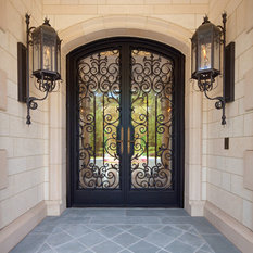 Mediterranean Front Door With A Black Front Door Ideas
