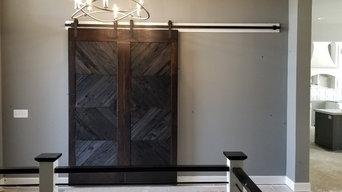 Custom sliding barn style doors