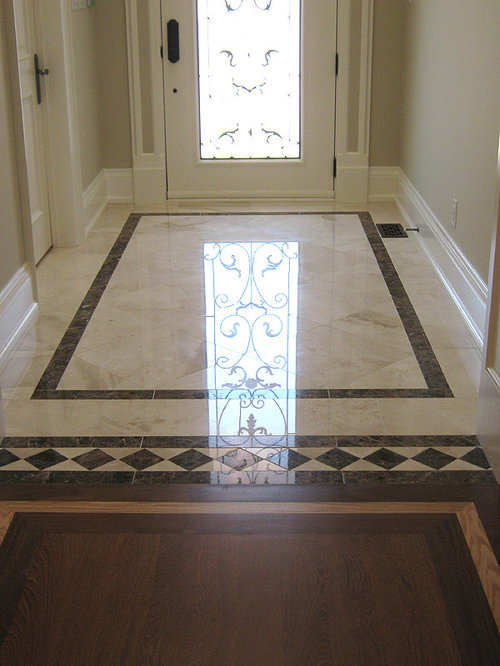 Large Tile Foyer : Foyer porcelain tile houzz