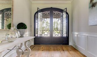 Custom Wrought Iron & Glass Doors