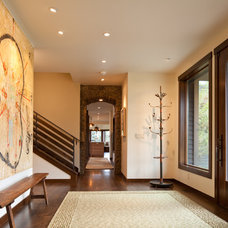 Contemporary Entry by Teton Heritage Builders