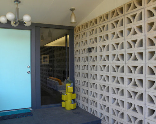 Painted concrete block walls home design ideas pictures remodel and decor - Decorating concrete walls ...