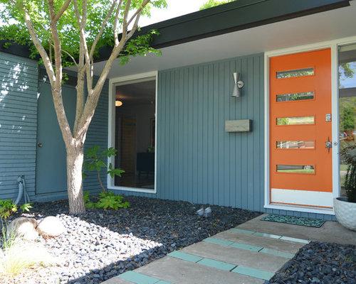 Mid century front doors home design ideas pictures - Mid century exterior doors ...
