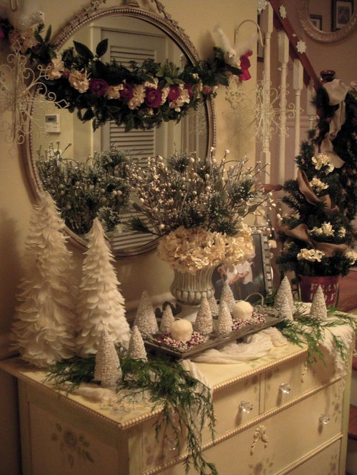 Table Decorations For Christmas Entryway Design Ideas Remodels