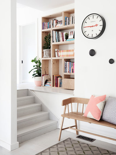 Scandinavian Entry by One Girl Interiors