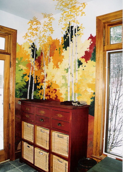 turn a wall into a window with the magic of scenic wallpaper. Black Bedroom Furniture Sets. Home Design Ideas