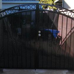 Decorative Iron Entry Door - Residential decorative driveway entry iron door expert since 1978