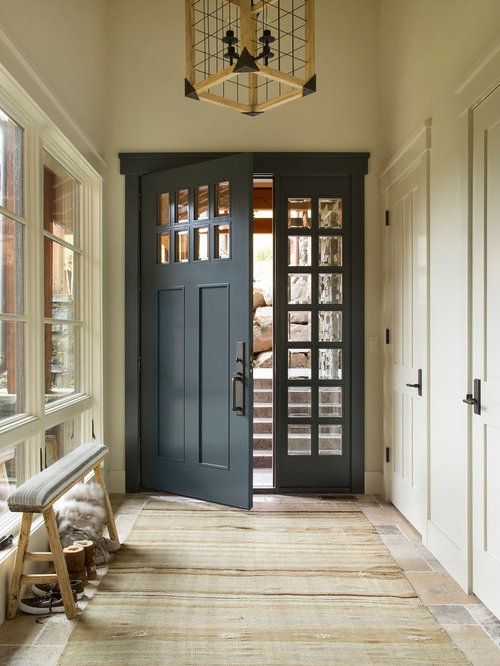 Rustic Entryway Design Ideas, Remodels & Photos