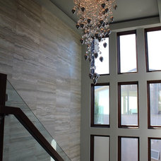 Contemporary Entry by Janine Brown Interiors