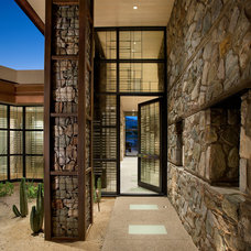 Contemporary Entry by Lawrence Lake Interiors
