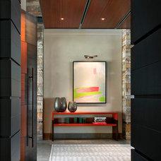 Contemporary Entry by David Michael Miller Associates
