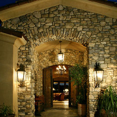 Mediterranean Entry by Robinette Architects, Inc.