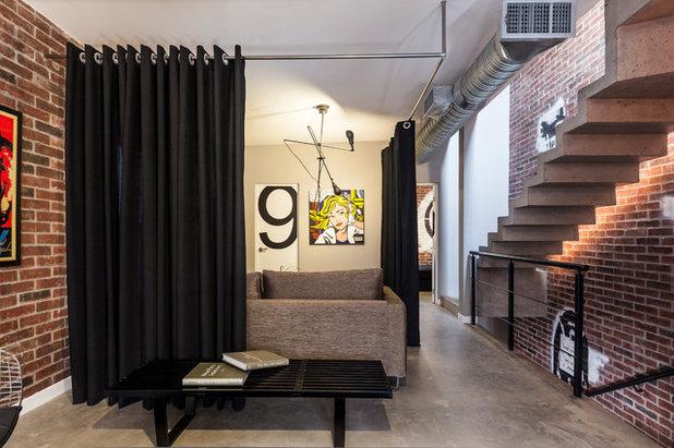 C mo usar unas cortinas para crear divisiones flexibles y - Ambientes de dormitorios ...