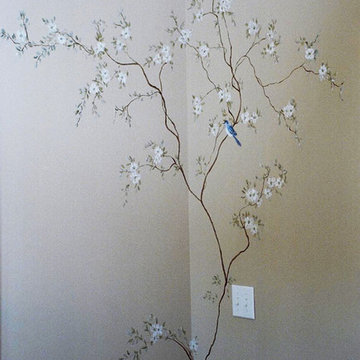 Dogwood Tree Mural in Entry