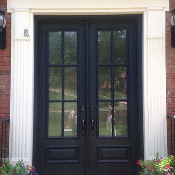 Door and sidelight transformed to double door