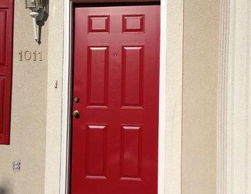 Door with a Pop of Color
