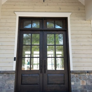Double Front Door With Transom
