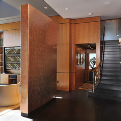contemporary entry by Amelie de Gaulle Interiors