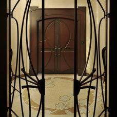 Contemporary Entry by Amelie de Gaulle Interiors