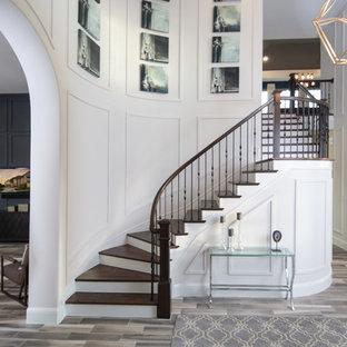 Dramatic Foyer with White Molding