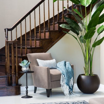 Dreamy Blue & Taupe Foyer