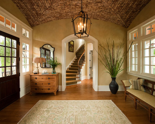 Front door entryway home design ideas pictures remodel for Traditional foyer decorating ideas