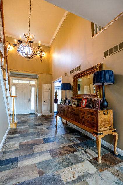 Traditional Entry by Robin Hiken Interiors
