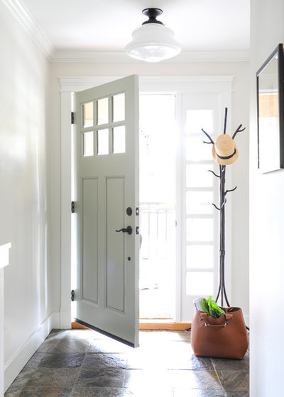Transitional Entry by Simply Home Decorating