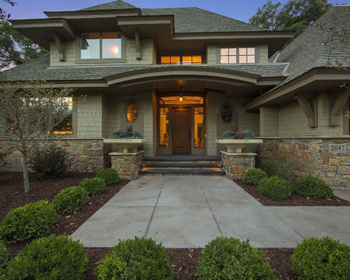 Sage green siding houzz for Green siding house