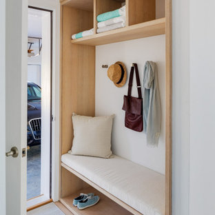 Efficient Mudroom with Storage and Seating