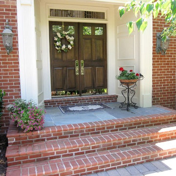 Elegant Brick and Stone Front Entry