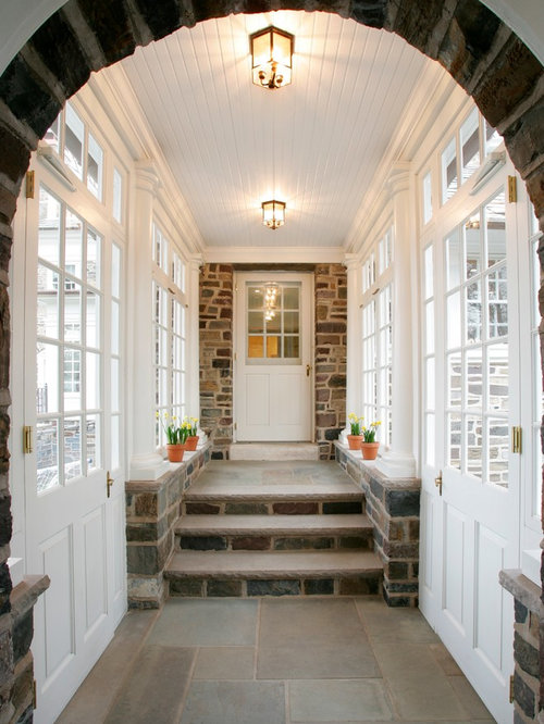 Enclosed breezeway houzz for Breezeway flooring ideas