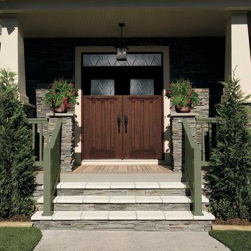 Enhance your home's exterior with Pella® fiberglass front doors