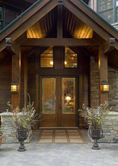 Rustic Entry by Gabberts Design Studio