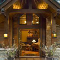 Rustic Entry by Gabberts Design Studio