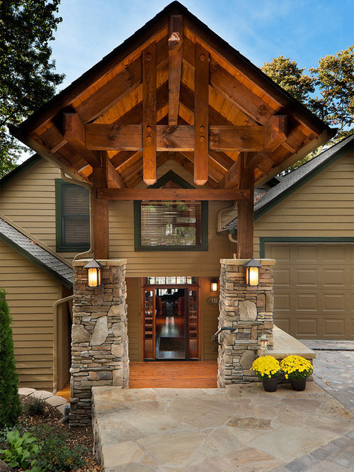 Timber Frame Entry Houzz