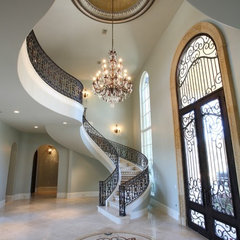 mediterranean entry by Amitha Verma Interior Design, LLC