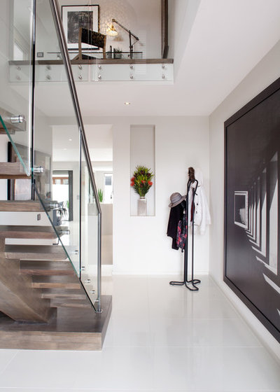 Contemporary Entrance by Orbit Homes