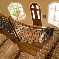 Traditional Entry Entry & Stairs