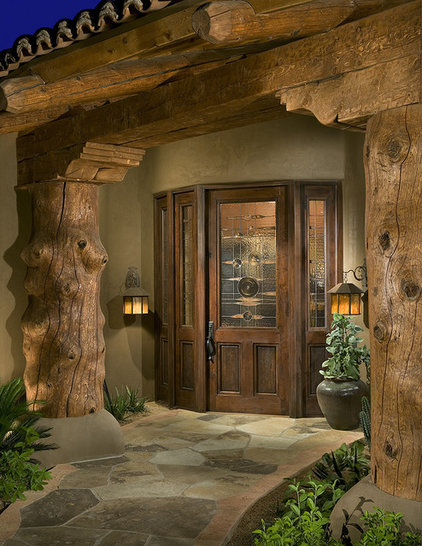 Rustic Entry by Bess Jones Interiors