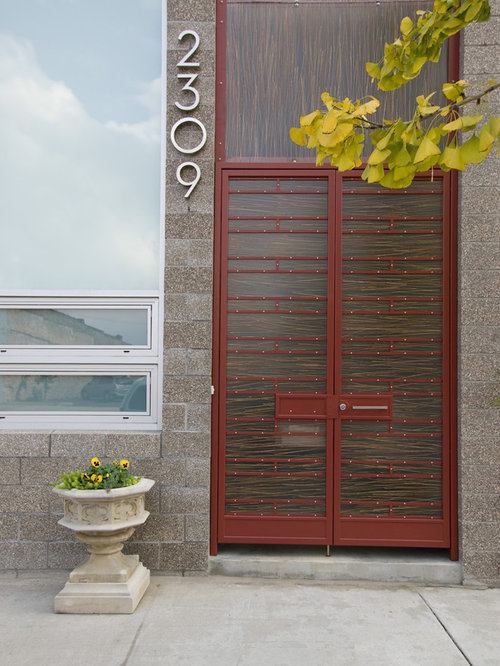 Inspiration For A Contemporary Double Front Door Remodel In Birmingham