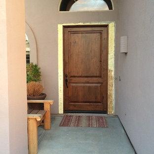 Entry door being istalled