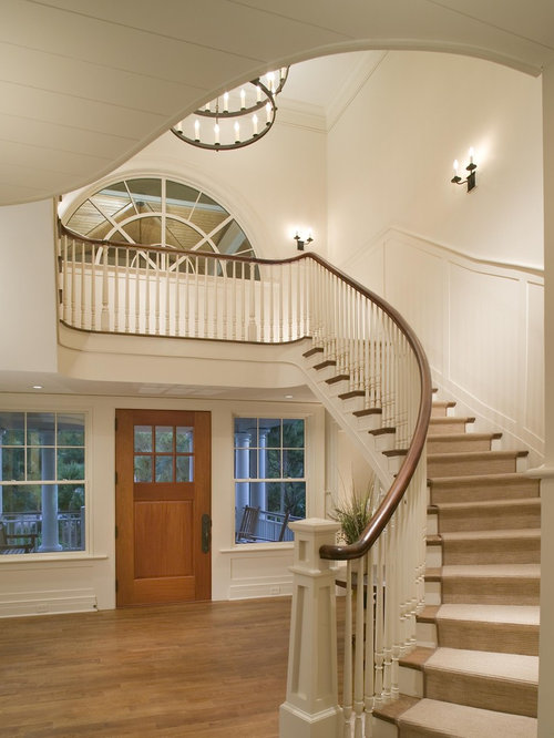 Foyer Stairs Reviews : Curved stair wainscoting ideas pictures remodel and decor